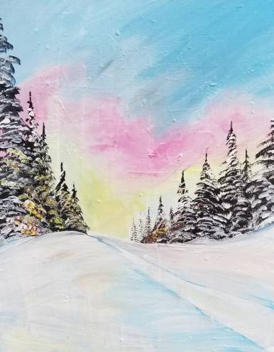 A Snowmobile Trail II paint nite project by Yaymaker