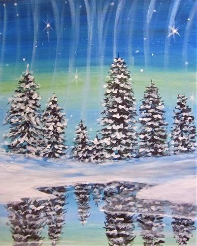 A Icy Reflections paint nite project by Yaymaker