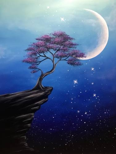 A Mystic Skies paint nite project by Yaymaker