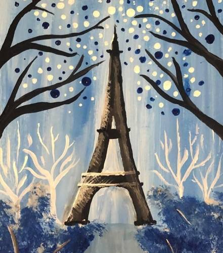 A Paris in Blue paint nite project by Yaymaker