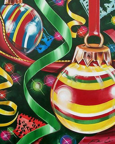 A Feliz Navidad II paint nite project by Yaymaker