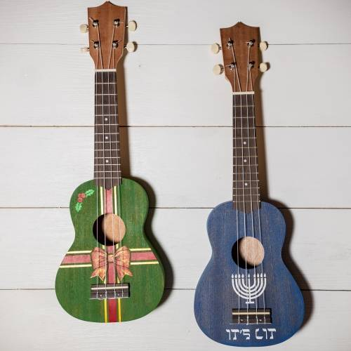 A ChooseYourOwn Holiday Stencil Ukulele create a ukulele project by Yaymaker