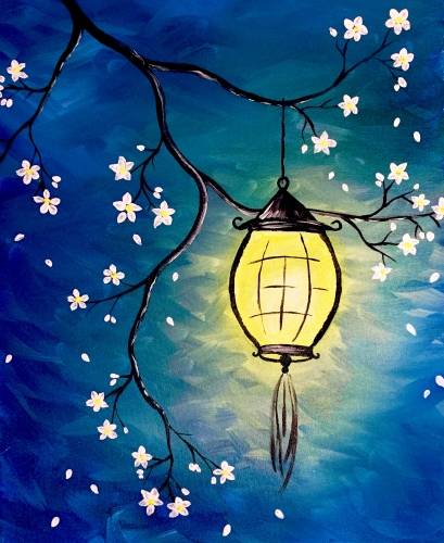 A Lantern Blossom paint nite project by Yaymaker
