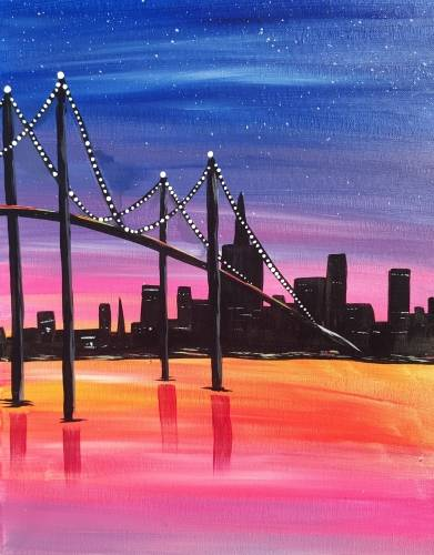 A City Lights II paint nite project by Yaymaker