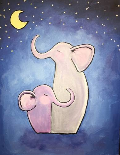 A Elephant Love paint nite project by Yaymaker