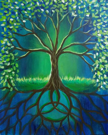 A Celtic Trinity Tree paint nite project by Yaymaker