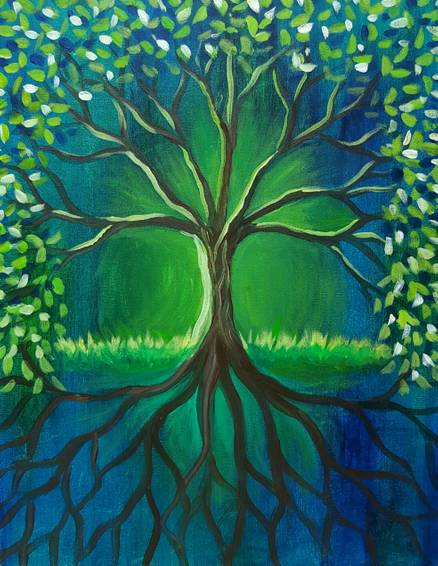 A Celtic Tree paint nite project by Yaymaker