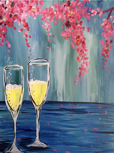 A Mimosas for Two paint nite project by Yaymaker