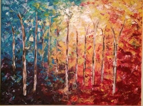 A Birch Meadow II paint nite project by Yaymaker