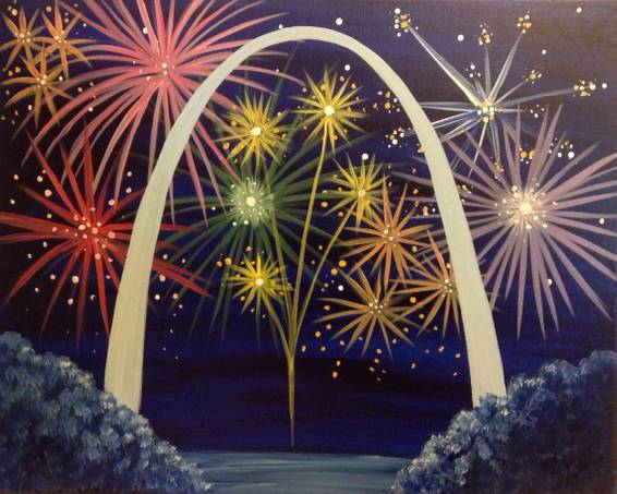 A Celebrate St Louis paint nite project by Yaymaker