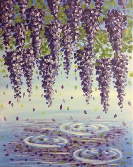 A Wisteria Reflection paint nite project by Yaymaker
