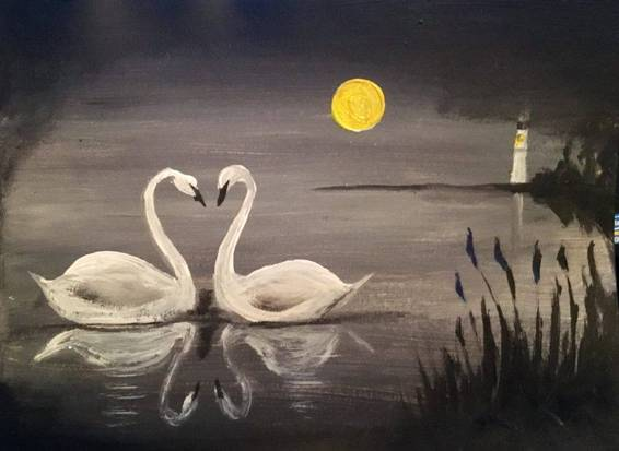 A Swanlight paint nite project by Yaymaker