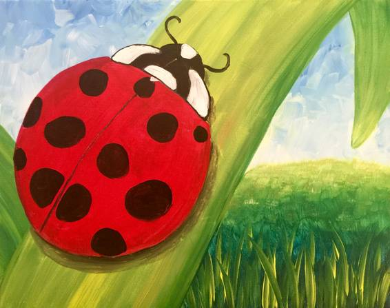 A Ladybugging paint nite project by Yaymaker