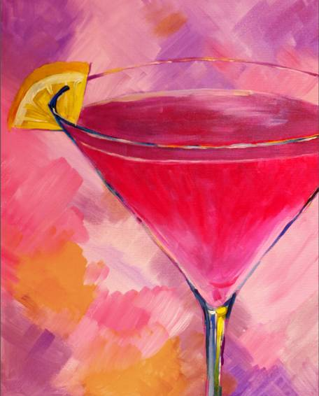 A Creatively Cosmo paint nite project by Yaymaker