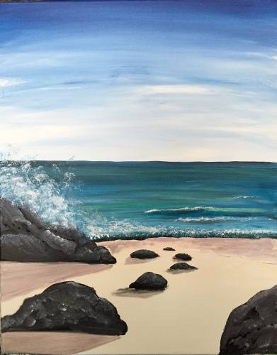 A The Ocean ROCKS paint nite project by Yaymaker