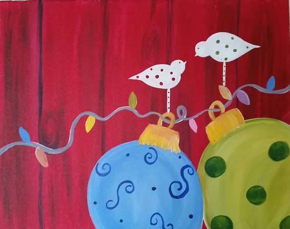 A Holiday Love paint nite project by Yaymaker