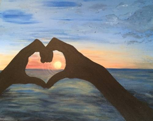 A All You Need Is LOVE paint nite project by Yaymaker