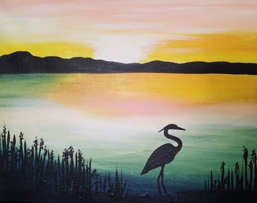 A The Life of a Crane paint nite project by Yaymaker