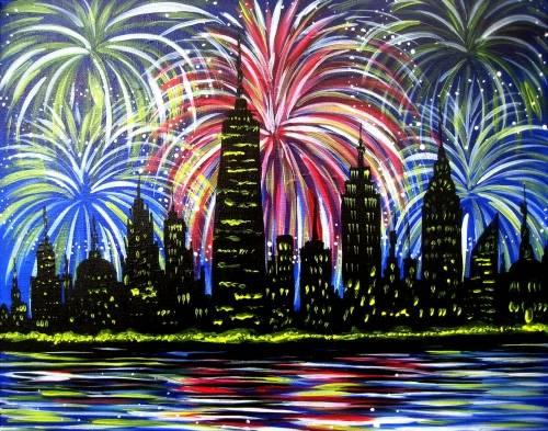 A City Celebration paint nite project by Yaymaker