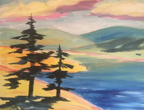 A Hot Summer Cool Water paint nite project by Yaymaker