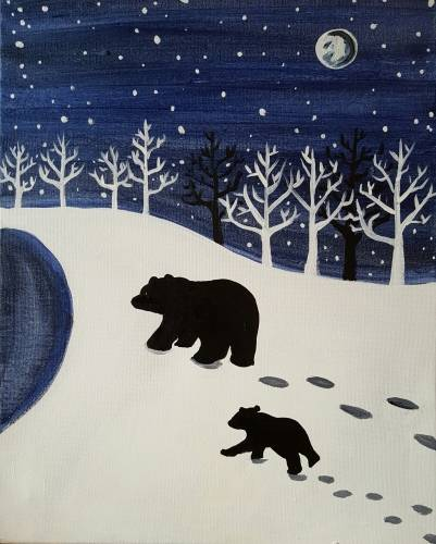 A Bear With Me II paint nite project by Yaymaker