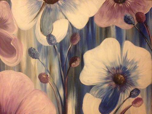 A Blue Poppies II paint nite project by Yaymaker