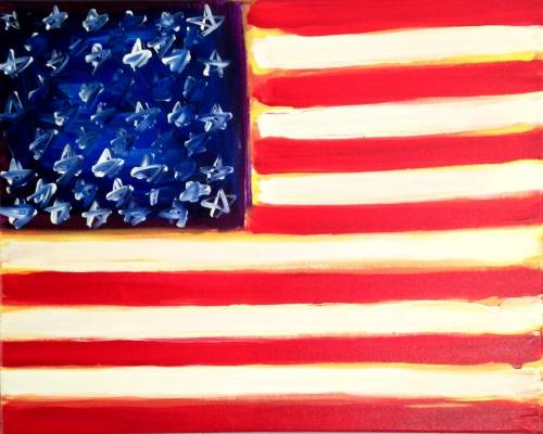 A The American Flag paint nite project by Yaymaker