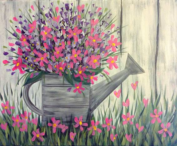 A Picking Posies paint nite project by Yaymaker