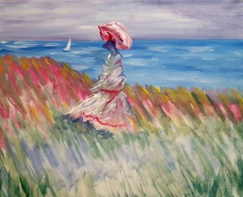 A Monets Parasol paint nite project by Yaymaker