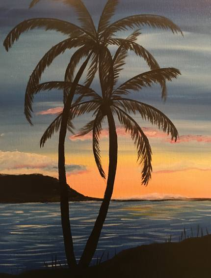 A Twilight Palm paint nite project by Yaymaker