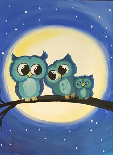 A Owl Eyes Still On You paint nite project by Yaymaker