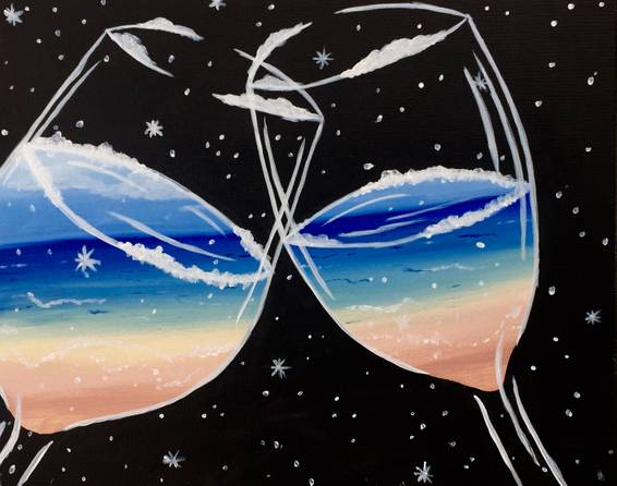 A Lets Drink til Summer paint nite project by Yaymaker