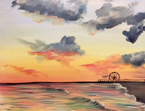 A The Sea Before the Storm paint nite project by Yaymaker