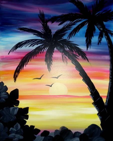 A Malibu View paint nite project by Yaymaker