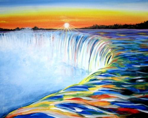 A Niagara Sunrise paint nite project by Yaymaker