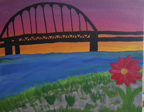 A Beauty in the City paint nite project by Yaymaker