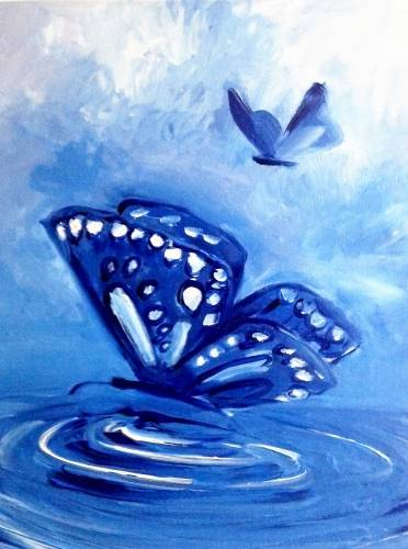 A Blue Butterfly Persuasion paint nite project by Yaymaker