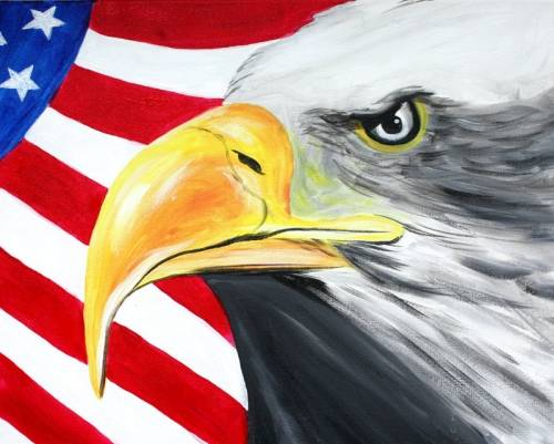 A American Eagle paint nite project by Yaymaker