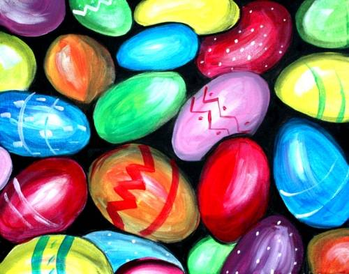 A Easter Eggs II paint nite project by Yaymaker