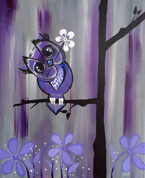 A Owl Behave I Promise paint nite project by Yaymaker