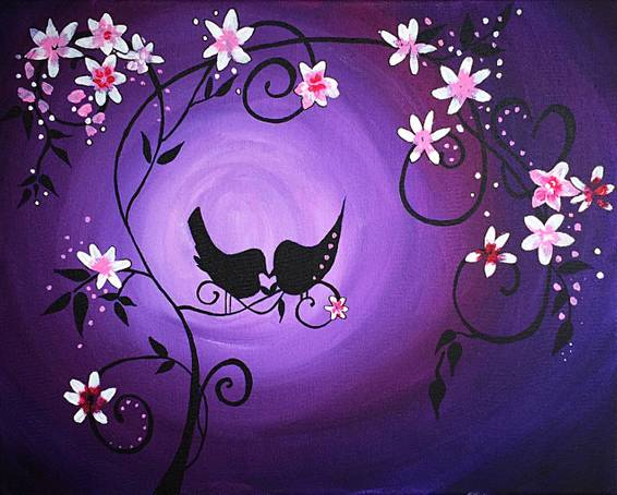 A The World Blooms Through Love paint nite project by Yaymaker
