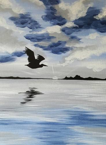 A Silver Sands Beach paint nite project by Yaymaker