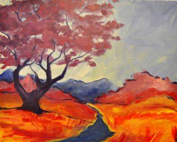A Impressionistic Nature paint nite project by Yaymaker