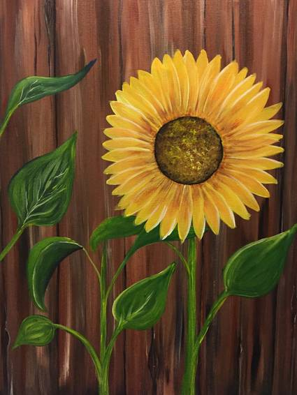 A The Sunflower paint nite project by Yaymaker