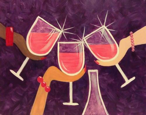 A Ladies Nite Out paint nite project by Yaymaker