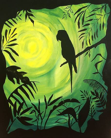 A In The Jungle paint nite project by Yaymaker