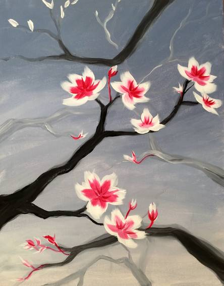 A Spring Rain paint nite project by Yaymaker