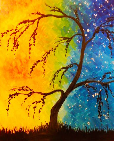 A Colourful Willow paint nite project by Yaymaker
