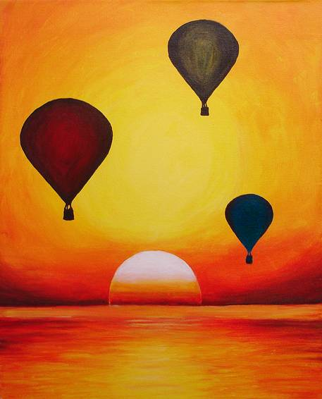 A Majestic Balloons paint nite project by Yaymaker