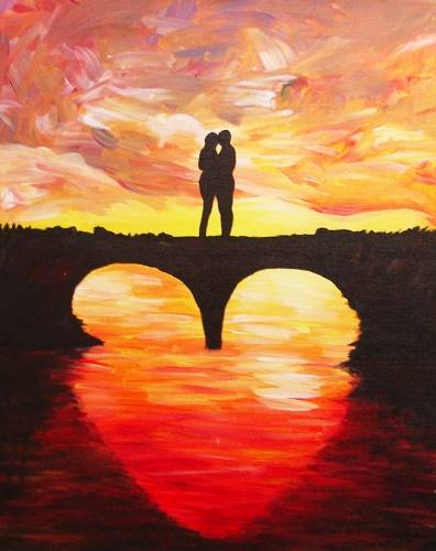 A Bridge of Love II paint nite project by Yaymaker